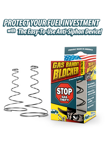 Stop gas & fuel siphoning theft with The Gas Bandit Blocker